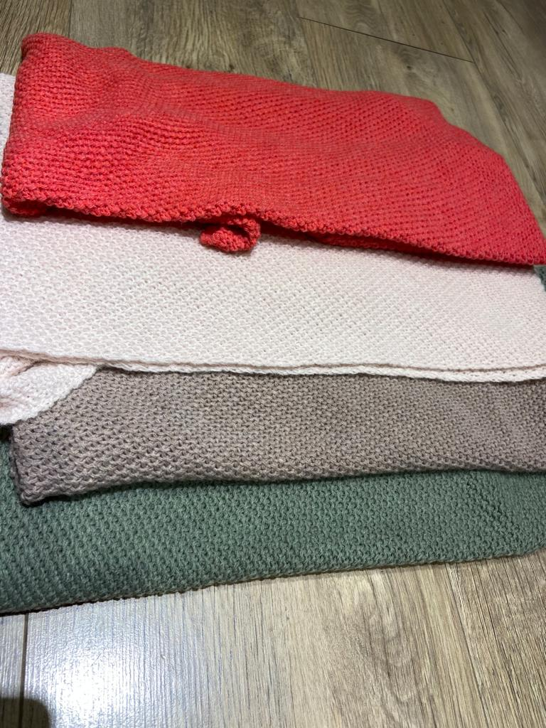 stoere gebreide shawl