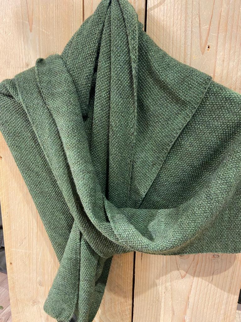 gebreide shawl groen