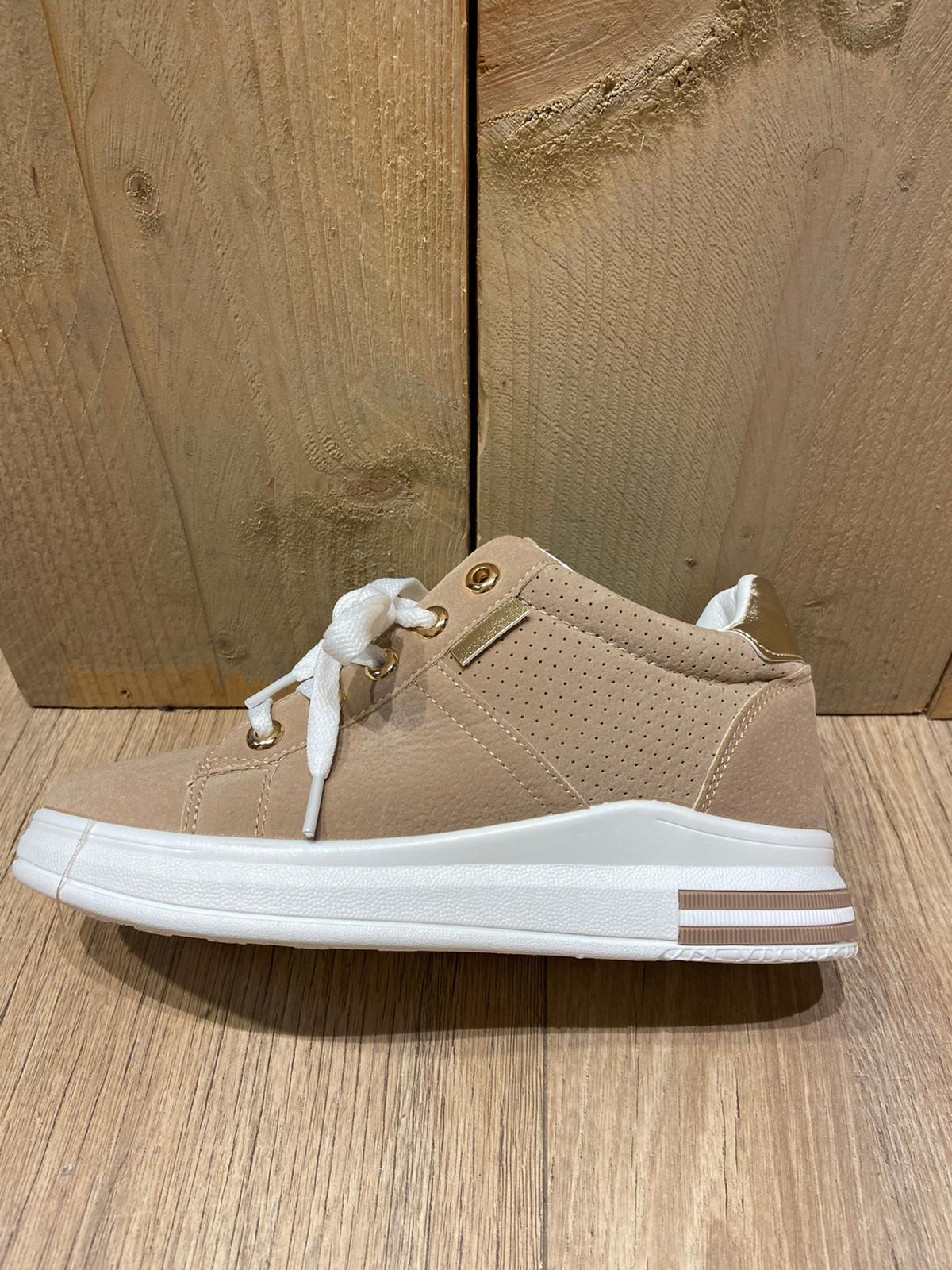 Taupe Dames sneaker