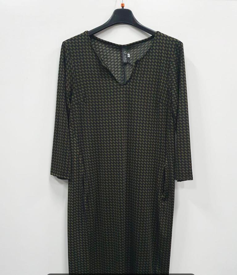 groene travelstof jurk